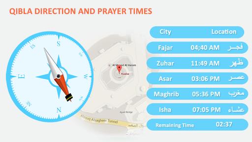 Qibla Direction Prayers Time