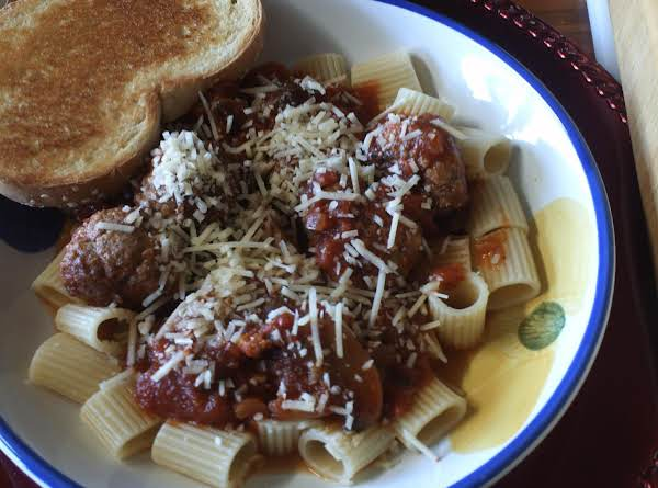 Rigatoni And Meatballs Recipe