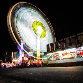 The BIG Wheel by Eliza Jane - City,  Street & Park  Amusement Parks ( ride, colour, park, amusement, night, fun )
