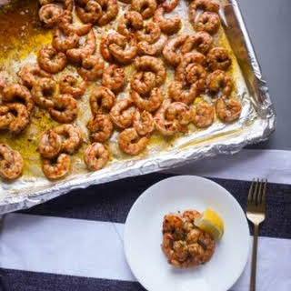 Spicy Baked Shrimp.