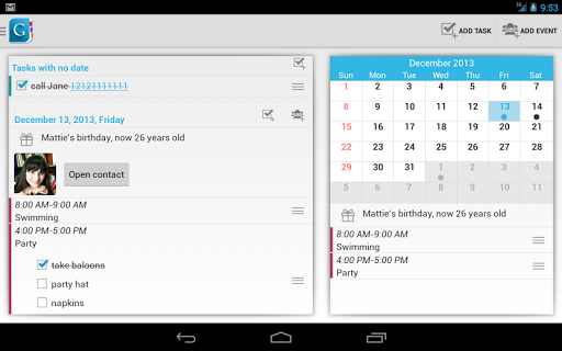 Screenshot for Day by Day Organizer PRO in United States Play Store