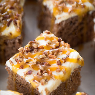 Brown Sugar Butterscotch Sheet Cake with Pecans