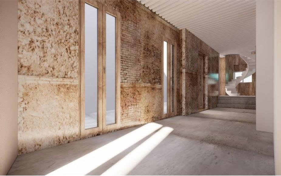 Vista lateral desde sala diáfana hacia calle Lectoral Sirvent.
