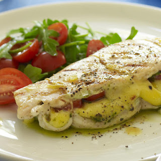Mozzarella and Pesto-Stuffed Chicken Breast.