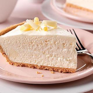 Fluffy White Chocolate Cheesecake.