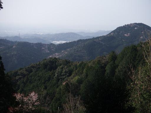 音羽富士と左奥に三河湾
