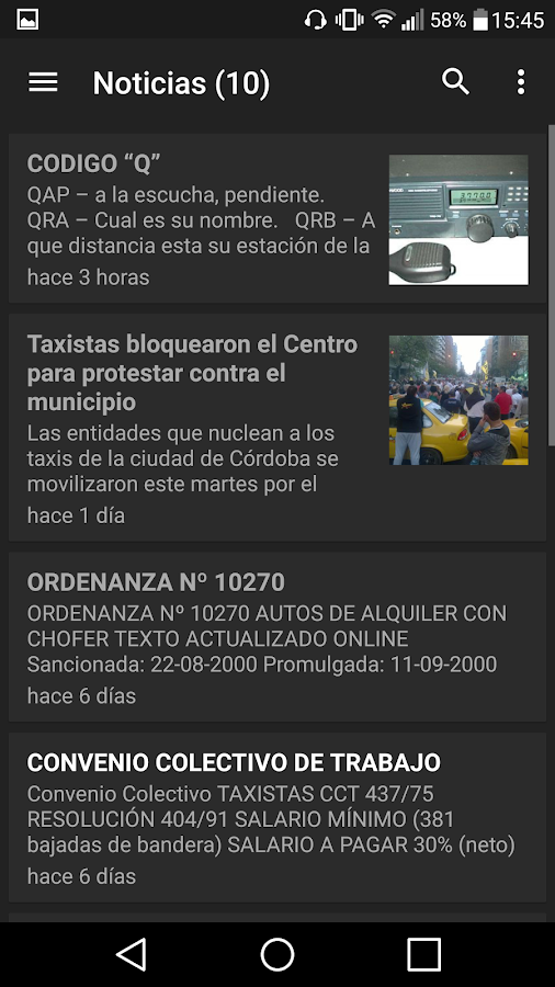 Infotaxi- screenshot
