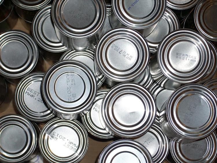 Cans of tinned food