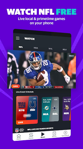 Yahoo Sports - Get scores & watch live NFL games Apk 1