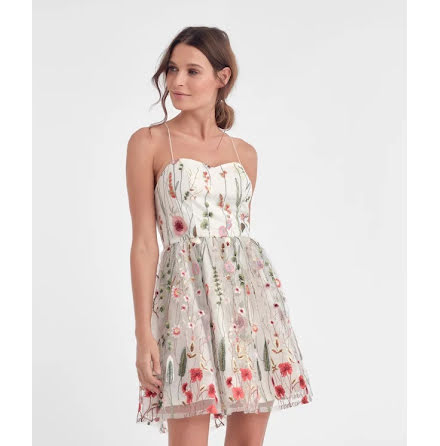 Paloma Dress, Flower - Dry Lake