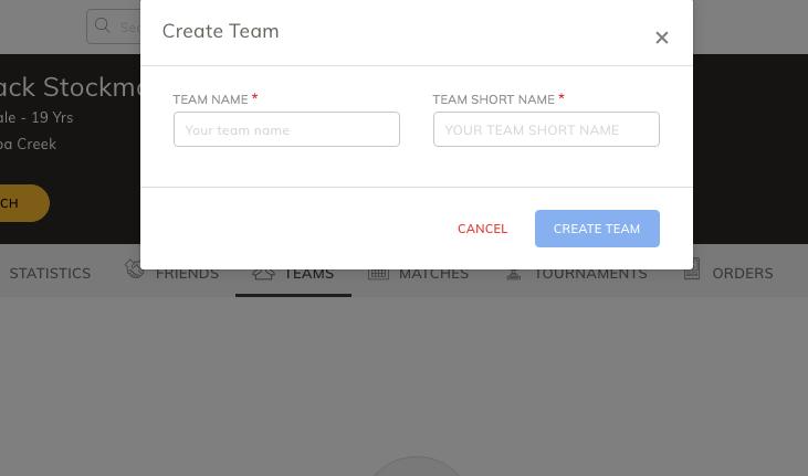 Enter team info