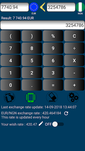 Euro Nigerian Naira Currency Converter Screenshot 2