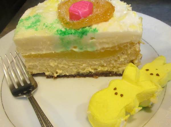 3 Layer Lemon Cheese Cake With Sour Cream Topping