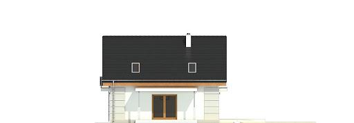 Nowinka V z garażem i wiatą bliźniak A1-BL1 - Elewacja lewa