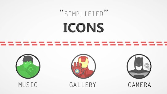 The Superhero-Icon Pack/Theme 1.5 Latest MOD Updated 2