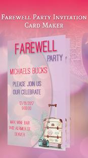 Farewell party invitation card maker android apps on google play farewell party invitation card maker screenshot thumbnail stopboris Gallery