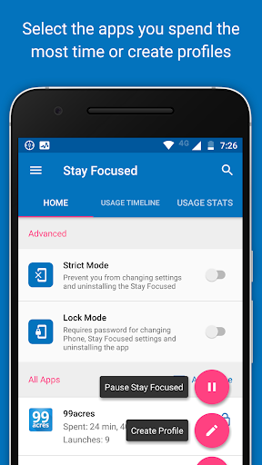 Stay Focused - App Block (Control Phone Addiction) 3.0.8 screenshots 1