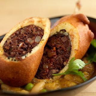 Morcilla Corn Dog - Braised Beans with Aji Amarillo Recipe