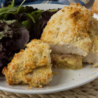 Crispy Baked Cheese and Ham Stuffed Chicken (with a Video) Recipe