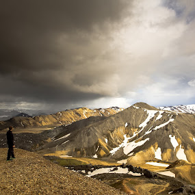 on the edge by Ruslan Stepanov - Landscapes Mountains & Hills ( clouds, iceland, mountains, nature, landscape, highlands )