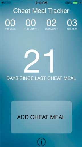 Cheat Meal Tracker Free