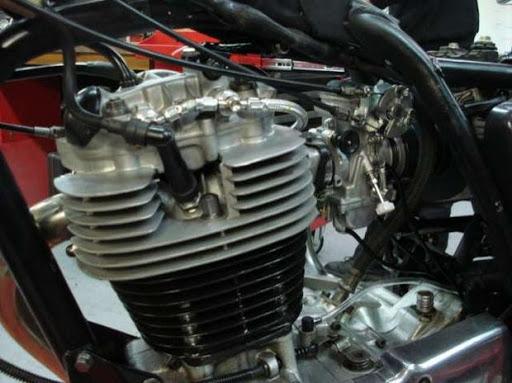 Détail de la Yamaha XT 500 rénovée par Machines et Moteurs à Eaubonne