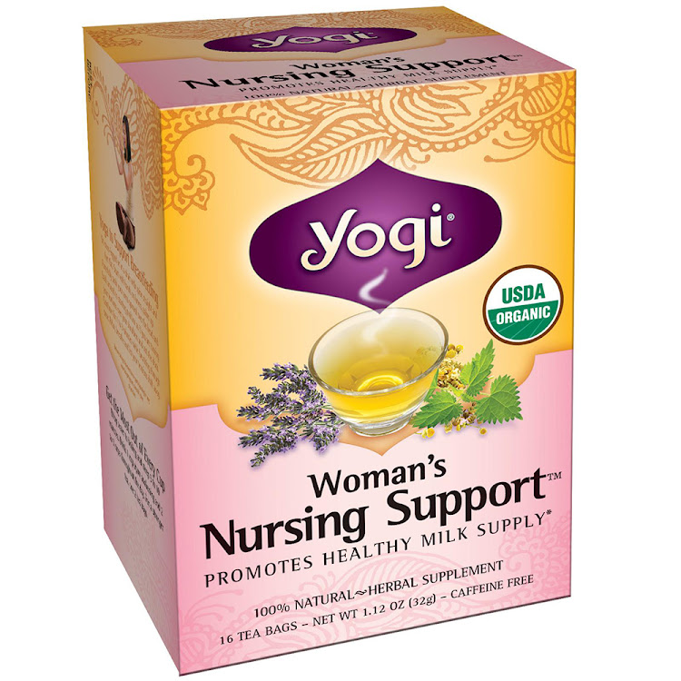 Yogi Nursing Support breastfeeding mothers tea, 16 Tea Bags by Supermodels Secrets