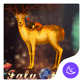 Cute deer fairy tale - APUS Launcher theme