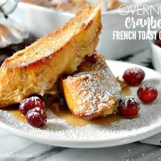 Overnight Cranberry French Toast Casserole.