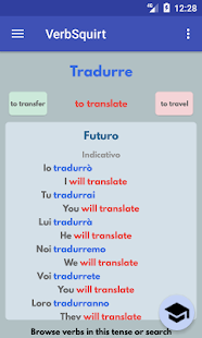 VerbSquirt Italian Verbs - FULL VERSION - náhled