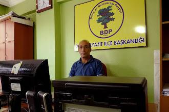 Photo: Talat, director of BDP Doğubayazıt office, 2011