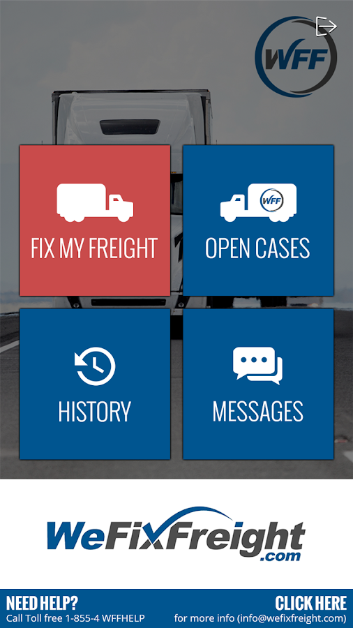 We Fix Freight Applet- screenshot