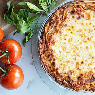 Cheesy Spaghetti Pie.