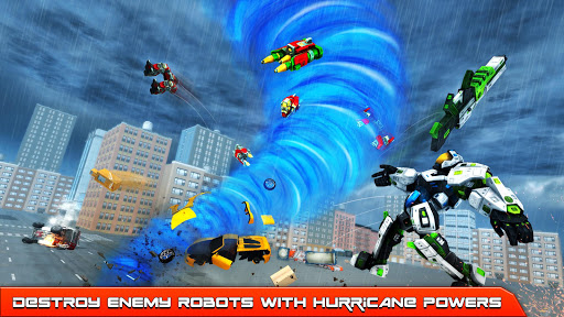 Hurricane Tornado Robot Transforming - Robot Game apkmr screenshots 2