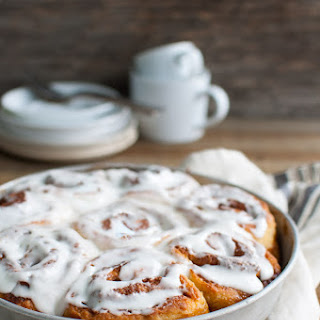 Quick Cinnamon Rolls with Buttermilk Icing.