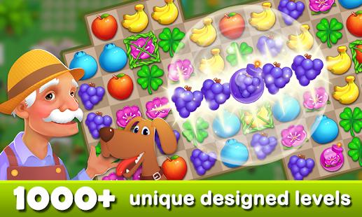 Fruits Garden - Scape Match 3 Game Ekran Görüntüsü