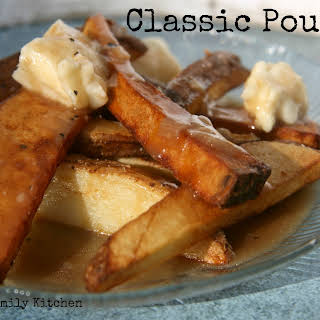 Classic Poutine {Fries, Gravy & Cheese Curds}.