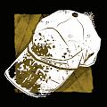 泥だらけの運動会のキャップ