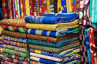Photo: Balogun Market - Ankara fabric