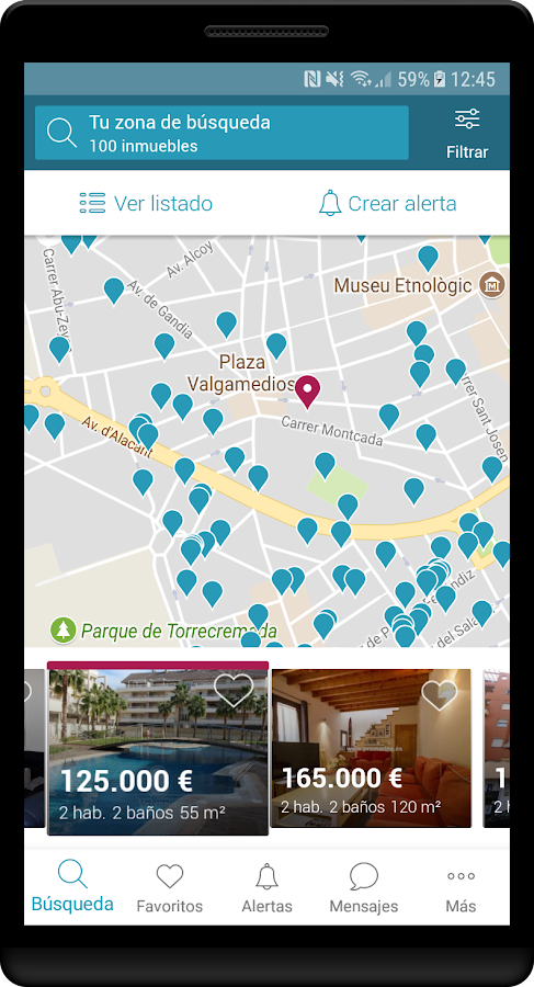 Fotocasa rent and sale- screenshot