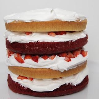 Red Velvet, Vanilla, Strawberry Layer Cake {Recipe} Recipe