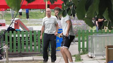 Photo: Swedens head coach, Jan Strandberg, and player Lars Brown. Photo: Hans Bergström