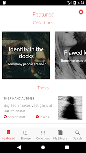 curio.io - listen to The Guardian, Financial Times- screenshot thumbnail