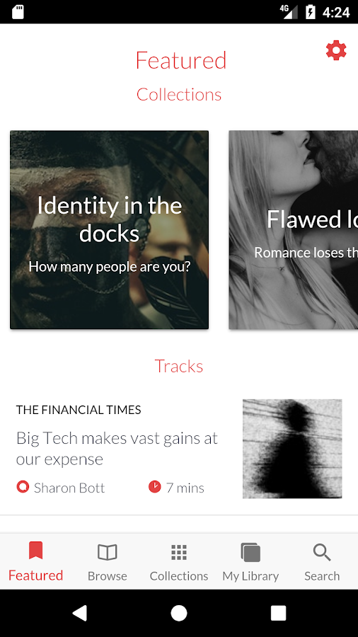 curio.io - listen to The Guardian, Financial Times- screenshot
