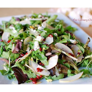 Asian Pear and Gorgonzola Salad With Pomegranate Vinaigrette