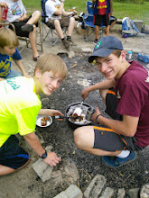 "Photo: The Reuter boys make a tasty ""Monkey Bread"""