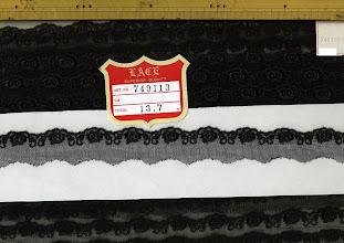 Photo: №749113-90チュールレース黒:巾22mm