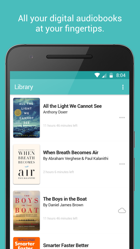 Audiobooks from Libro.fm: captura de pantalla