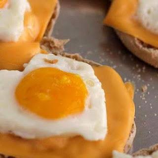 Heart Shaped Egg & Cheese Nibbles