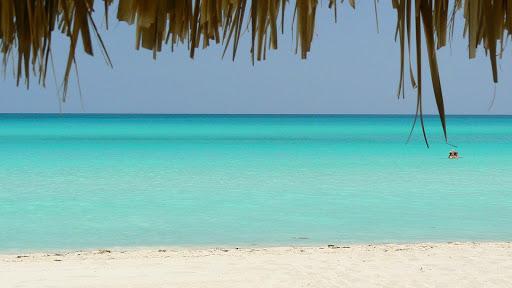 An idyllic beach scene in Cuba.